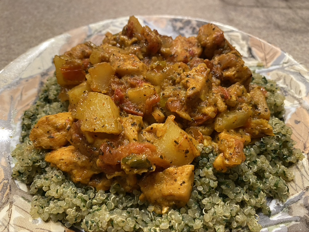 final result of chicken and quinoa
