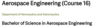 text that says aerospace engineering