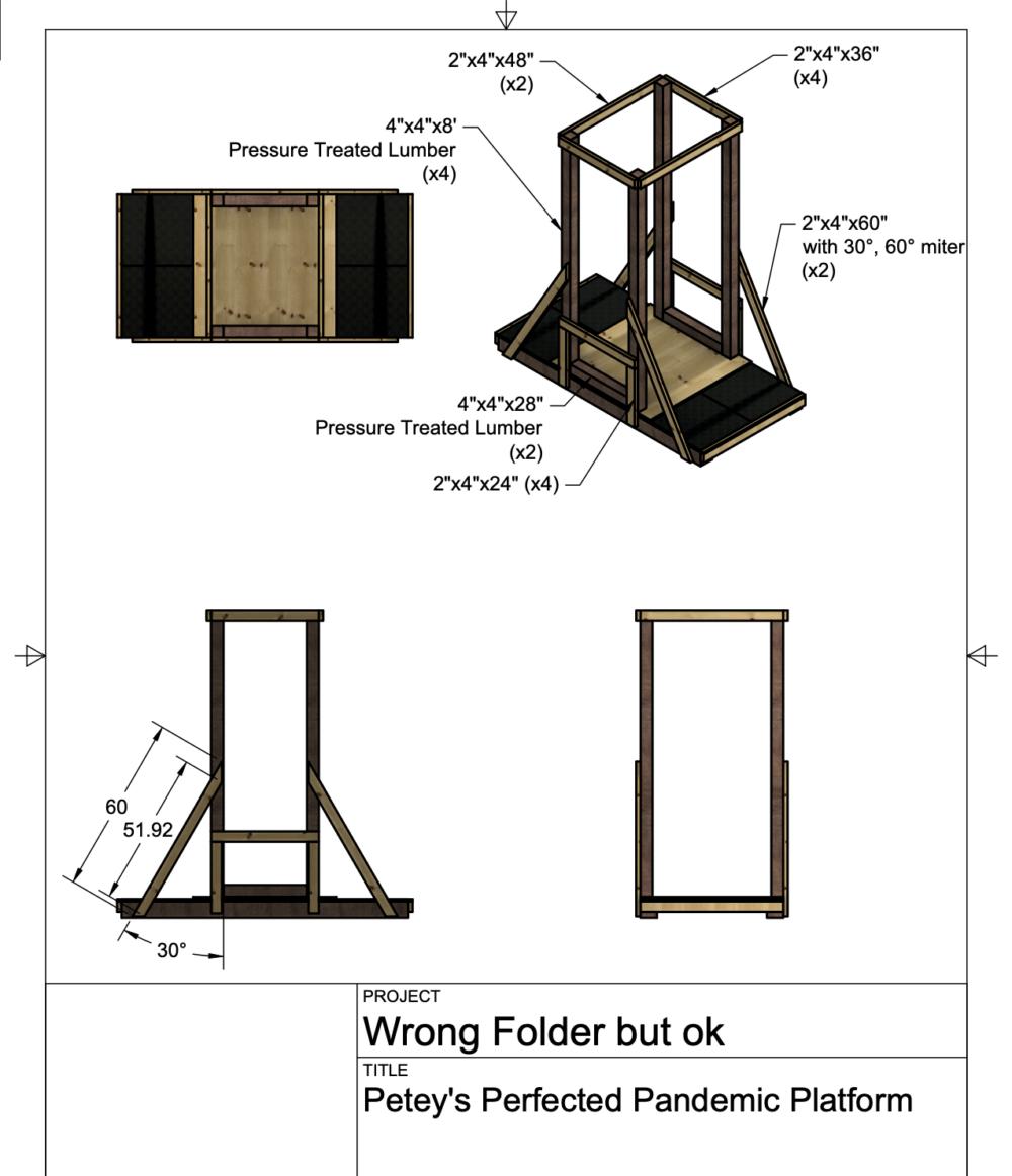 CAD renderings of my platform