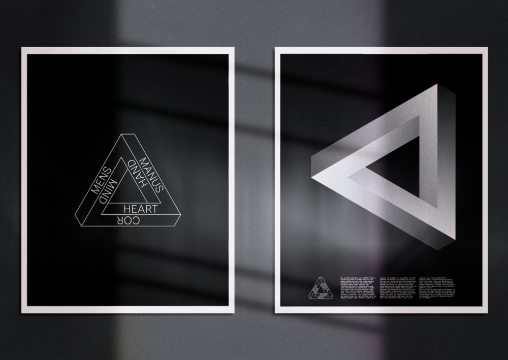 Impossible triangle poster designs