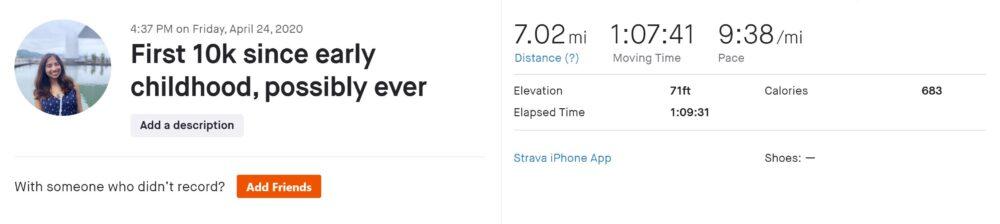 ran 7.02 miles