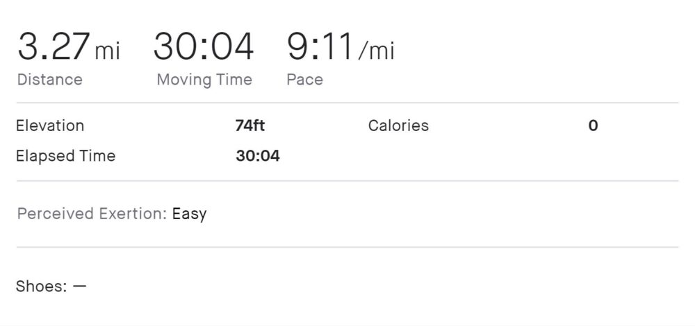 running a 5k at 9:11 pace