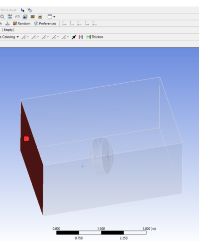 pressure and velocity inlet of object in ansys