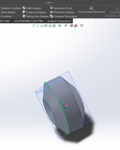 CAD model of hexagon rotated around axis
