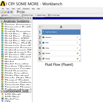ansys layout of application/UI