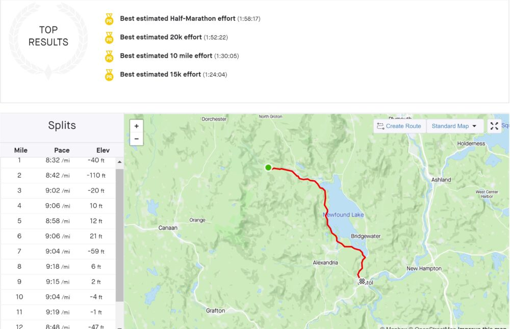 the nh half marathon path