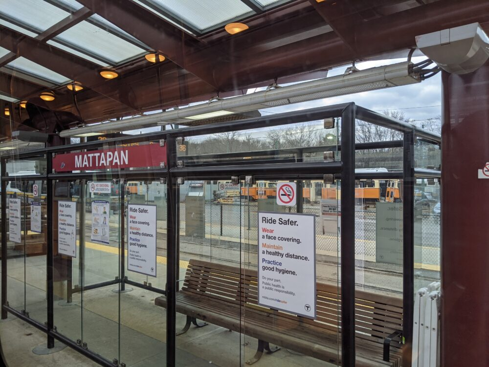 picture of shelter at Mattapan station