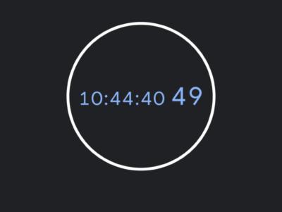 screenshot of phone timer reading 10:44:40.49