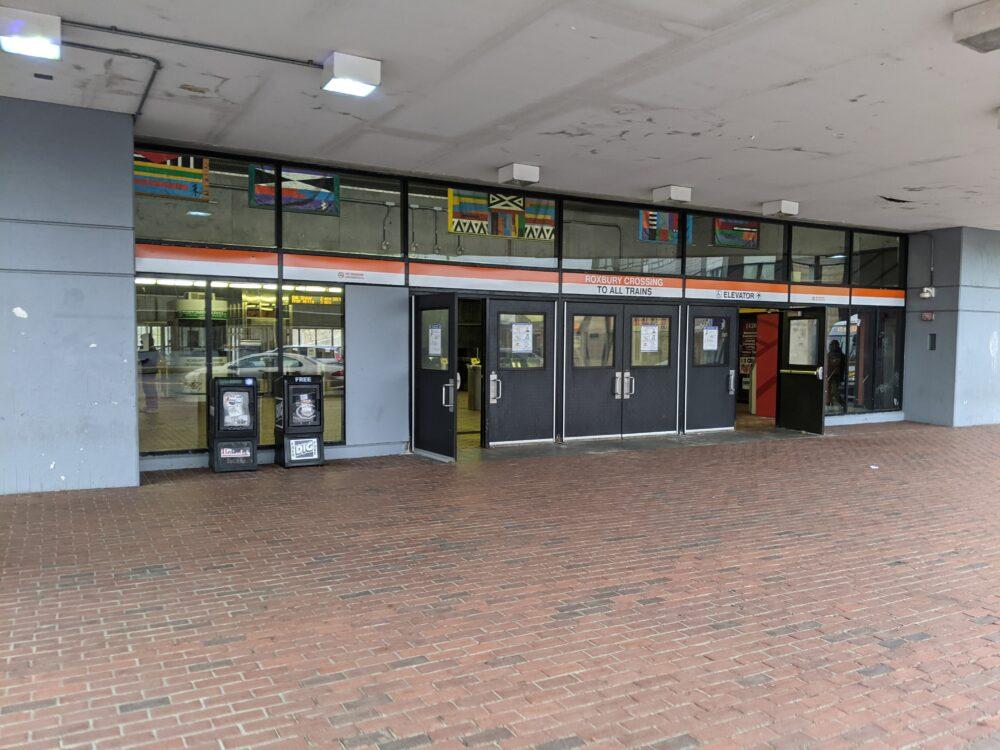 entrance to Roxbury Crossing