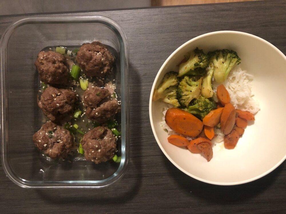 Beef bulgogi meatballs.