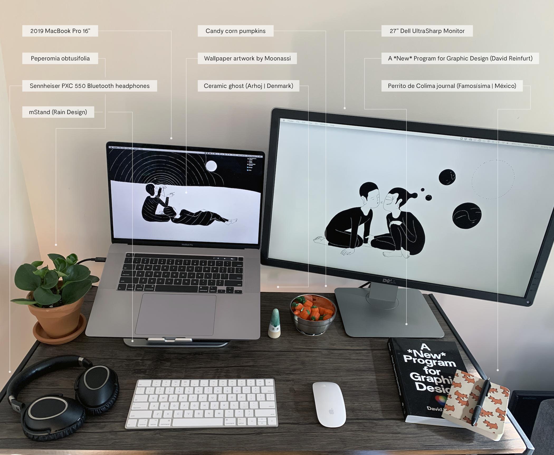 My home office desk setup