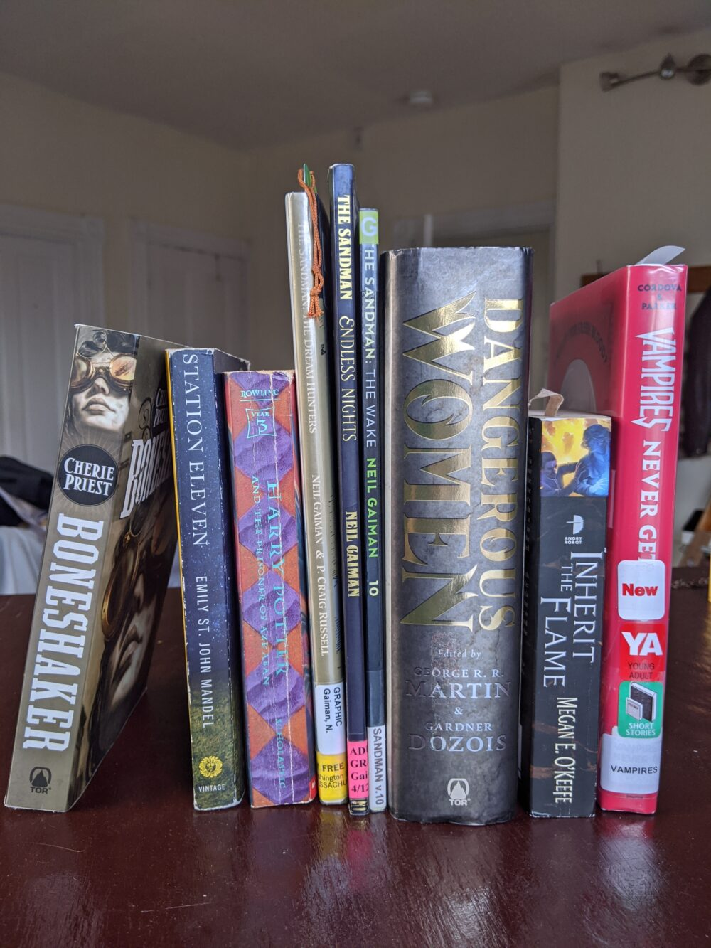 Image of several books, all of which will be listed below
