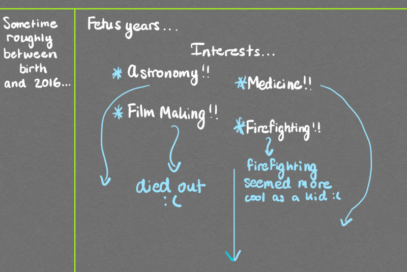 diagram of interests as a child