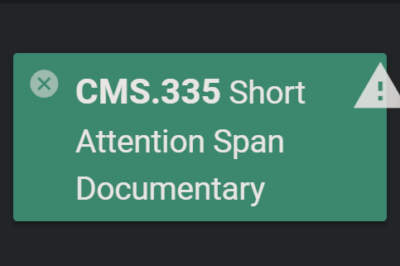 short attention span documentary class