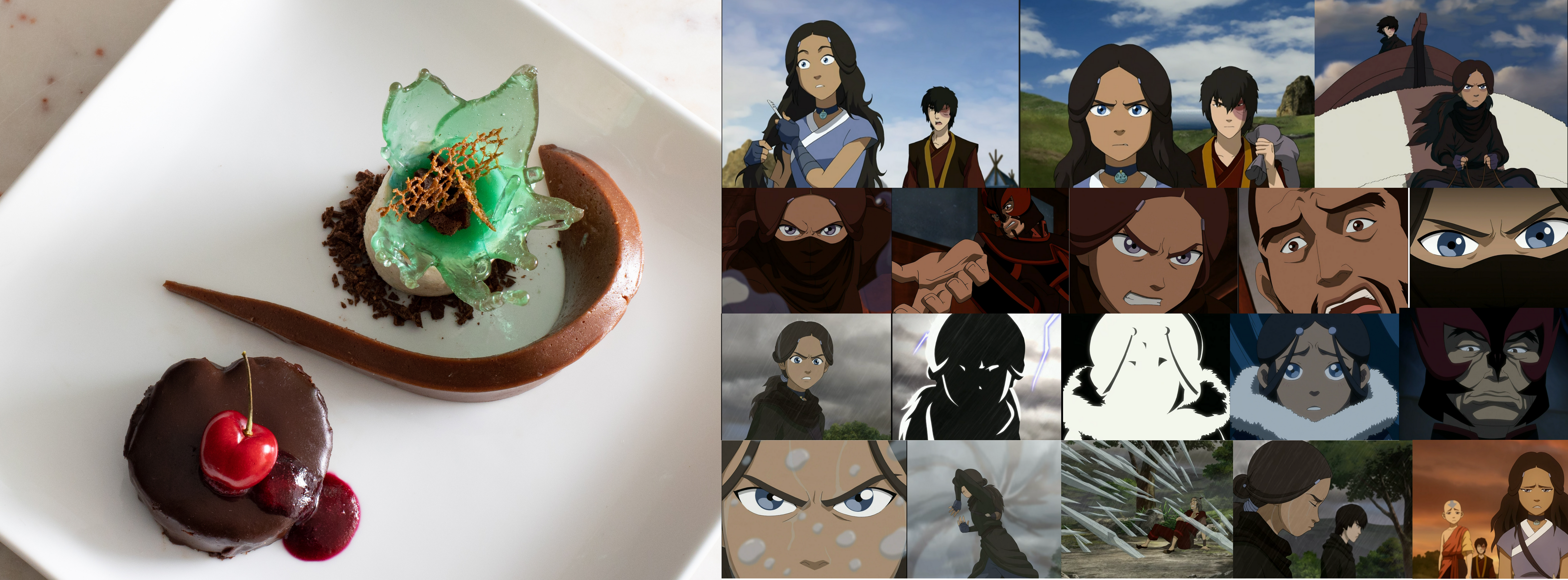 a picture of one of my desserts and scene from the southern raiders