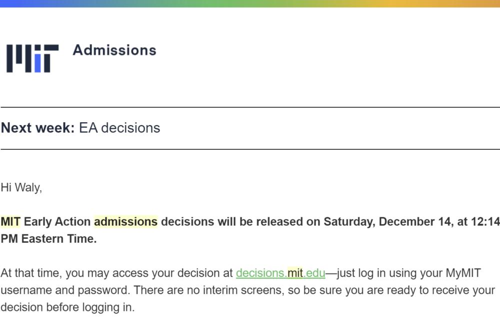 ea decision date notification