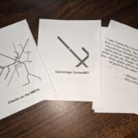 picture of three cards from an interactive narrative project