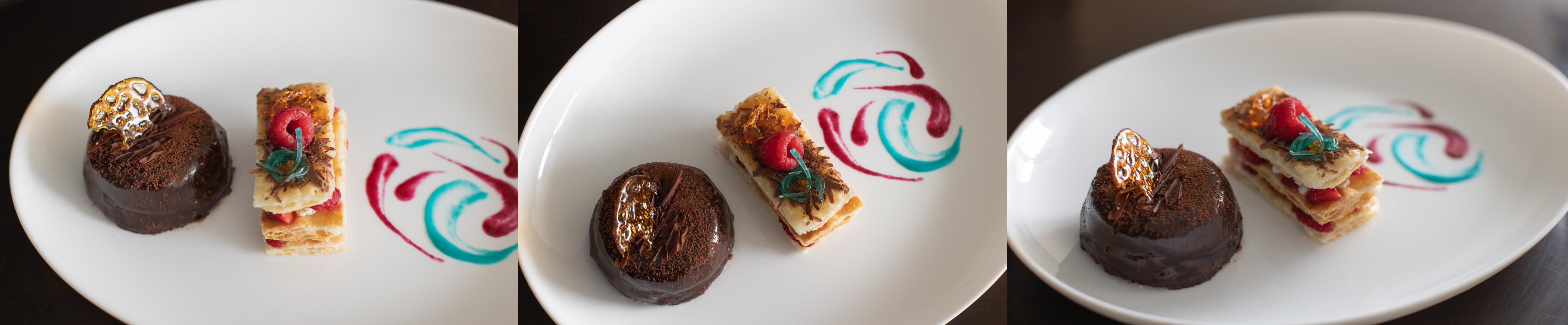 three pictures of my dessert