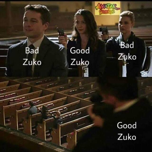 a meme related to zuko's character arc// Source: Avatar Shitbending FB group