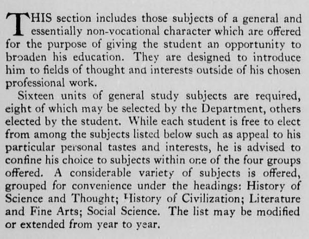 general studies description