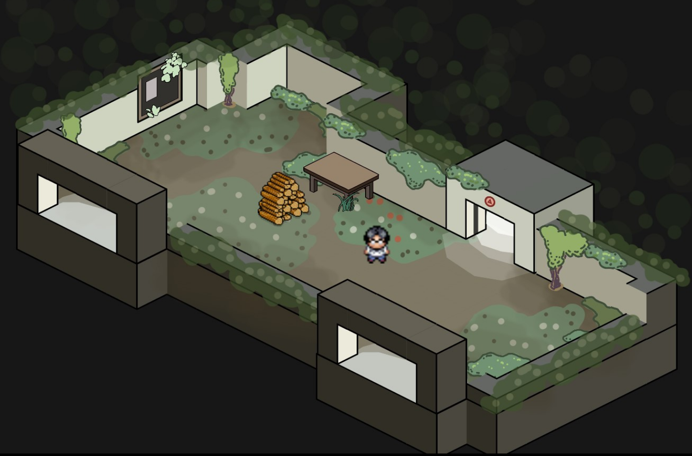 green building interior screenshot