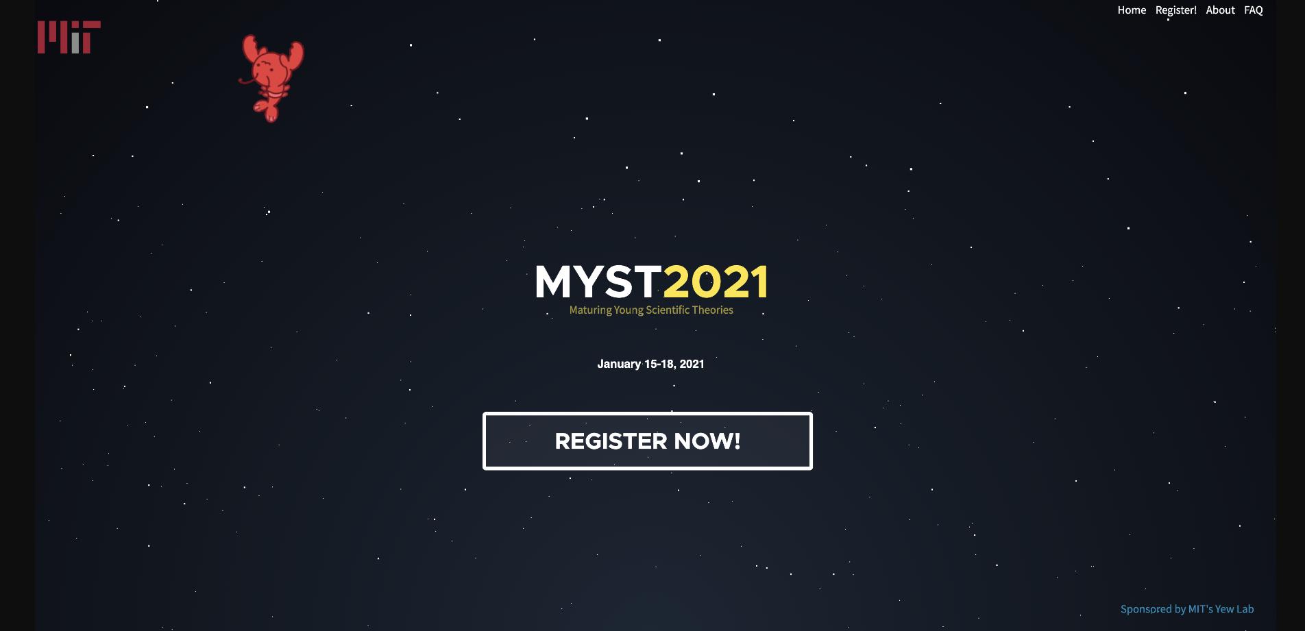 screenshot of registration website with smobster in background