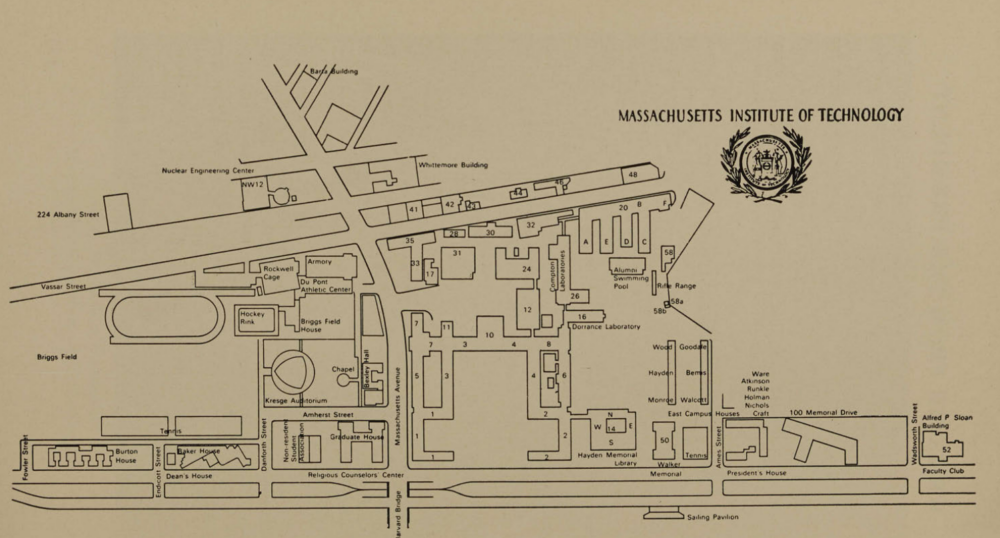 map of campus from 1959