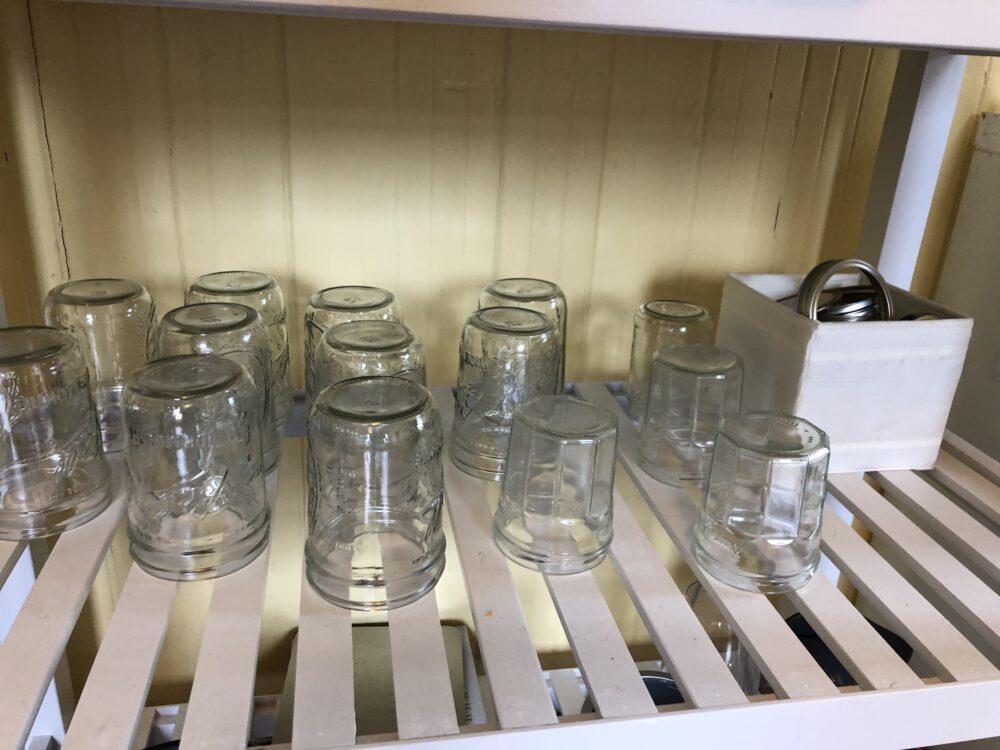 a photo of many mason jars