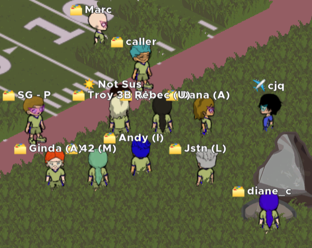 screenshot of central services in the mmo