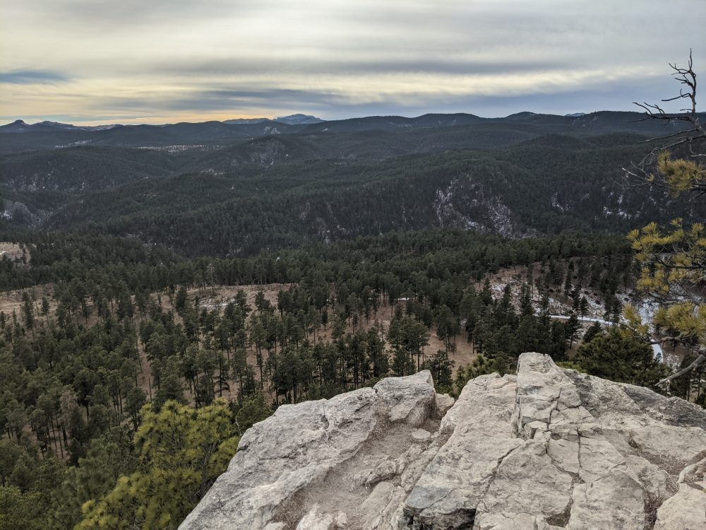 peak of buzzard's roost over the black hills national forest