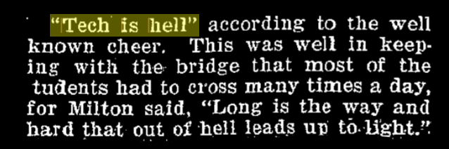 """article excerpt. """"tech is hell"""" according to the well-known cheer."""