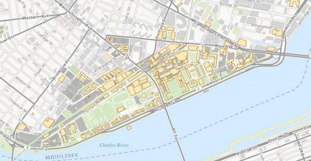 map of MIT campus