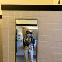 mirror selfie in bathroom